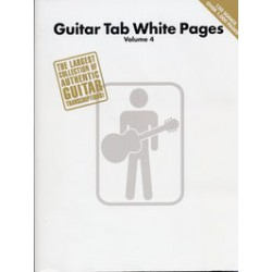 WHITE PAGES VOL.4 GUITAR TAB150 titres 1000 pages Editions HAL LEONARD