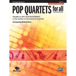 POP QUARTETS FOR ALL POUR TROMPETTE Editions ALFRED PUBLISHING gauche
