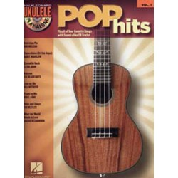 UKULELE PLAY ALONG VOL.01 POP HITS CD Editions HAL LEONARD dessus