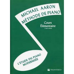 AARON METHODE DE PIANO VOL.3 COURS ELEMENTAIRE Editions VOLONTE AND CO