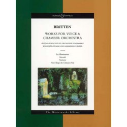 BRITTEN SONGS FOR VOICE  et  CHAMBER ORCH. Editions BOOSEY and HAWKES gauche