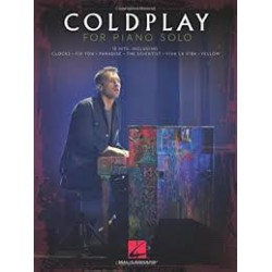 Coldplay For Piano Solo Editions HAL LEONARD cote