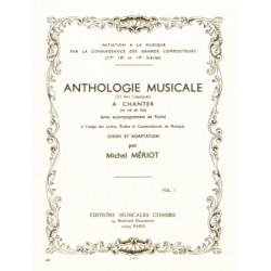 Anthologie musicale Vol.1 Editions COMBRE droite