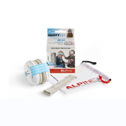 MUFFY BABY BANDEAU PROTECTION AUDITIVE BLEU droite