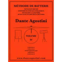METHODE DE BATTERIE VOL 4 Editions AGOSTINI gauche