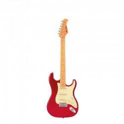 GUITARS ST80 MA CAR GUITARE ELECTRIQUE SSS CANDY RED dessus