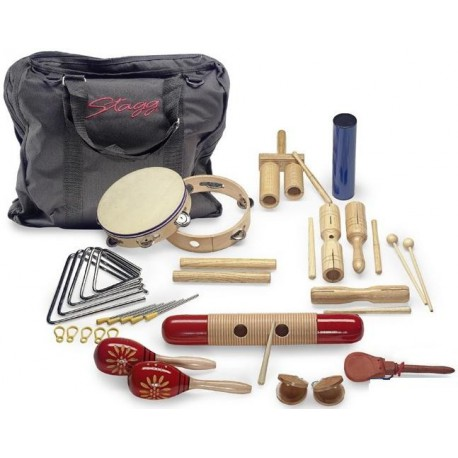 CPJ-05 KIT PERCUSSIONS JUNIOR AVEC SAC DE TRANSPORT STAGG droite