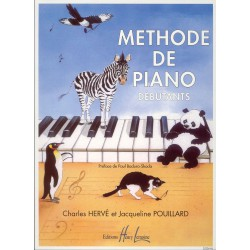 HERVE - POUILLARD / METHODE DE PIANO DEBUTANTS Editions HENRY LEMOINE droite