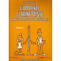 HUE / L APPRENTI CLARINETTISTE VOL 1 Editions COMBRE face