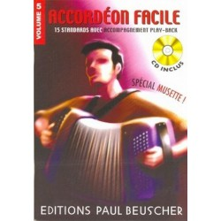 ACCORDEON FACILE 5 + CD MUSETTE PAUL BEUSCHER droite