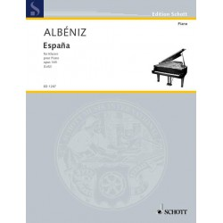 ALBENIZ / ESPANA OP 165 SIX ALBUM LEAVES POUR PIANO PARTITION