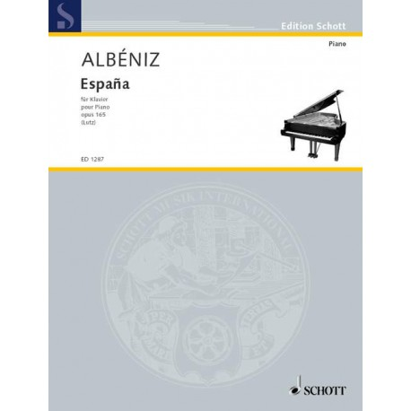 ALBENIZ / ESPANA OP 165 SIX ALBUM LEAVES POUR PIANO PARTITION cote
