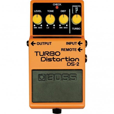 DS-2 EFFET PEDALE TURBO DISTORTION BOSS dessus