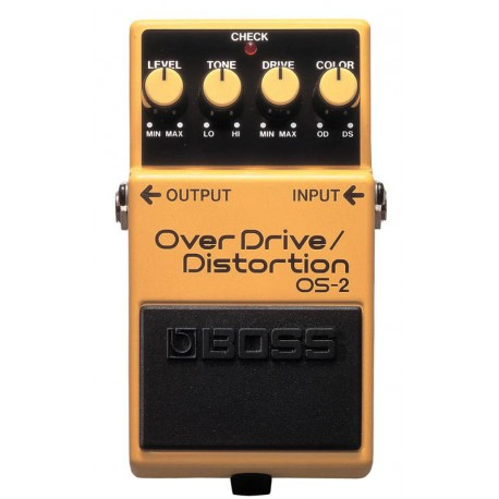 OS-2 EFFET PEDALE OVERDRIVE DISTORTION BOSS cote