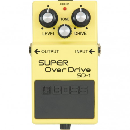 SD-1 EFFET PEDALE SUPER OVERDRIVE BOSS arriere