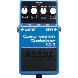 CS-3 EFFET PEDALE COMPRESSION SUSTAINER BOSS