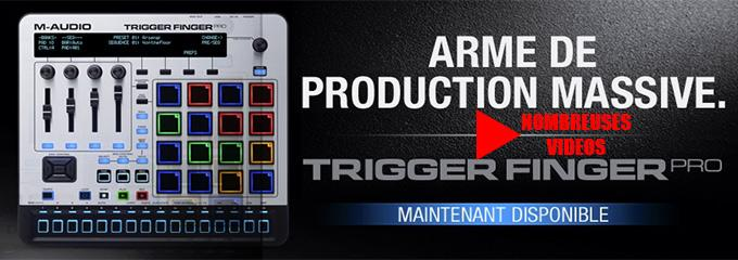 news : TRIGGER FINGER PRO M-AUDIO