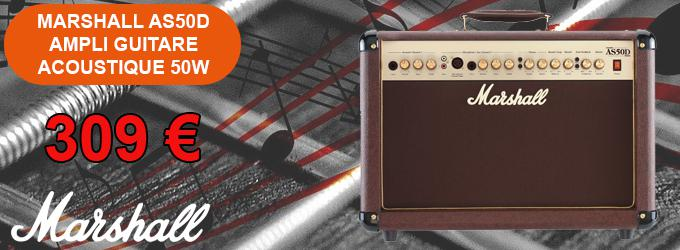 news : AS50D AMPLI GUITARE ACOUSTIQUE 50W MARSHALL