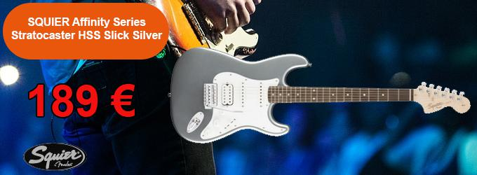news : Affinity Series Stratocaster HSS Slick Silver SQUI