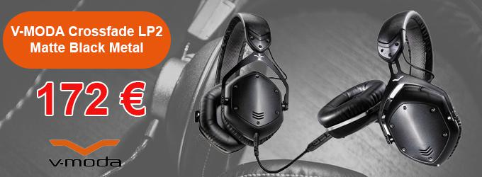 news : Crossfade LP2 Matte Black Metal V-MODA